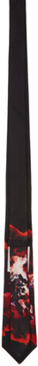 Alexander McQueen Black Ink Floral Tie