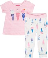 Joules Baby Girl Ice Cream T-Shirt With Legging