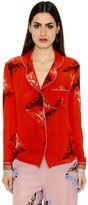 Sanchita Embroidered Silk Satin Shirt