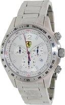 Ferrari Scuderia Silver Dial Chronograph Stainless Steel Mens Watch FE-07-ACC-CM-SL