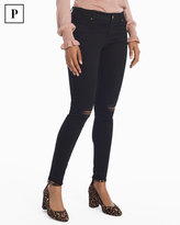 White House Black Market Petite Destructed Black Skinny Ankle Jeans