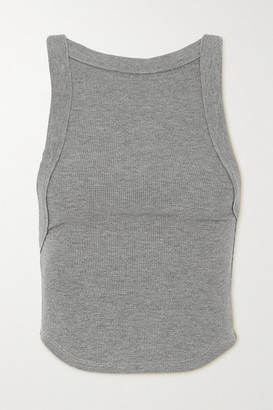 The Line By K - Ximeno Open-back Ribbed Stretch-jersey Top - Gray