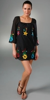 Oaxocan Embroidery 3/4 Sleeve Dress