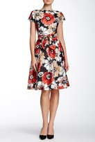Anne Klein 10576398 Floral Bateau Neck A-Line Dress