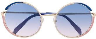 Emilio Pucci Round Frames Gradient Sunglasses