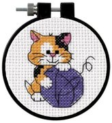 "Dimensions Cute Kitty"" Counted Cross Stitch Kit, Multi-Colour"
