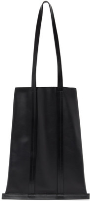 Building Block Black Leather Line Tote