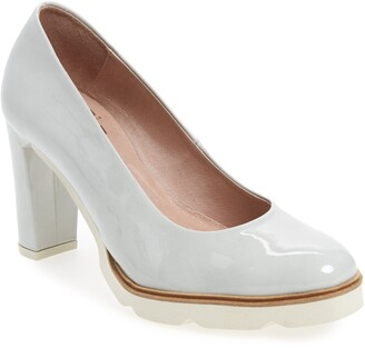 Wonders Block Heel Pump