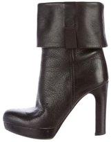 Miu Miu Leather Mid-Calf Boots