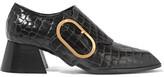 Stella McCartney Croc-effect Faux Leather Pumps - Black