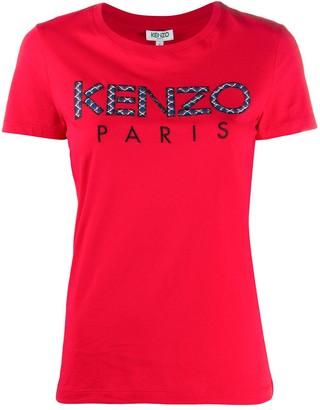Kenzo patchwork logo crew neck T-shirt