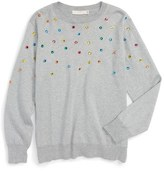 Stella McCartney 'Jade' Jewel Embellished Sweater (Little Girls & Big Girls)