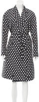 Rochas Open Front Polka-Dot Coat