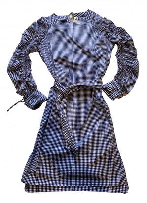 Teija Blue Cotton Dress for Women