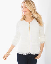 Chico's Textured Fringe-Detail Cardigan