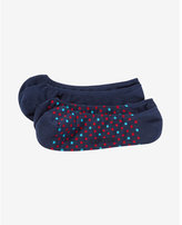 Express 2 pack dot print and solid no-show socks