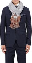 Colombo Men's Striped Cashmere-Silk Twill Scarf