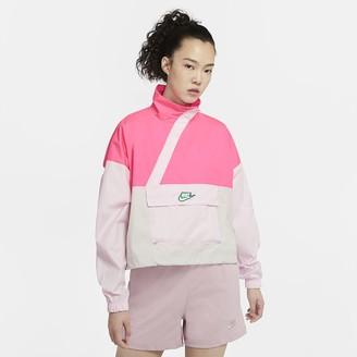 Nike Women's Woven Anorak Sportswear Icon Clash