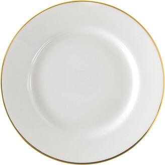 Ten Strawberry Street Gold Line Set Of 6 Dinner Plates