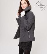 LOFT Petite Shawl Collar Puffer Jacket