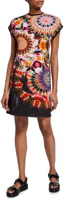 Fuzzi Chakra Print Jersey T-Shirt Dress