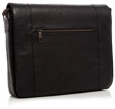 J By Jasper Conran Designer Black Leather Messenger Bag