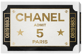 Oliver Gal Ticket Admit One Paris (Canvas)