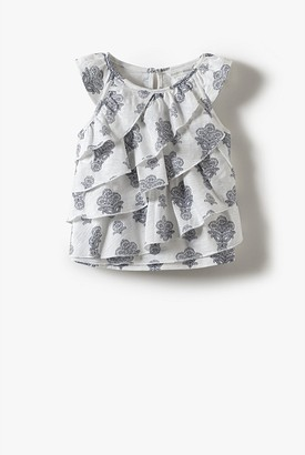 Country Road Organically Grown Cotton Ruffle Flutter T-Shirt