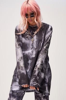 Jaded London Womens **Diamante Venom T-Shirt By Black