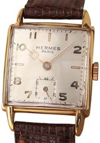Hermes Paris Gold Plated and Stainless Steel 38mm Mens Watch