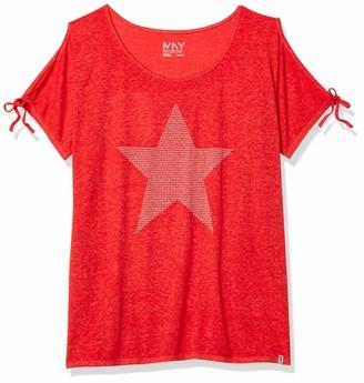 Andrew Marc Women's Embellished Cold Shoulder Star Tee