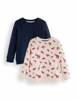 Amazon Brand - RED WAGON Girl's Sweatshirt Pack of 2