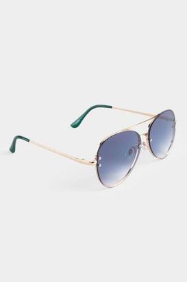 francesca's Taryn Aviator Sunglasses - Gold