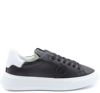 Philippe Model Black Leather Temple Sneakers