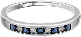 Love Gem 9ct White Gold Sapphire and Diamond Set Eternity Ring