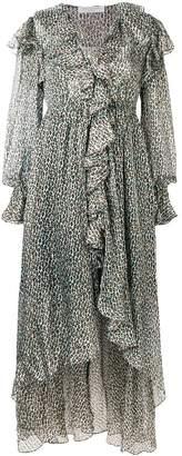 Philosophy di Lorenzo Serafini Animal Print Ruffle Dress