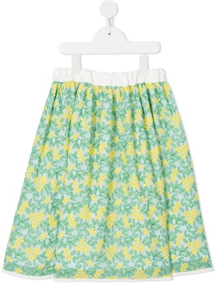Familiar Floral Flared Skirt