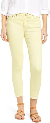 AG Jeans The Prima Mid Rise Crop Raw Release Hem Cigarette Jeans