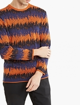 White Mountaineering Orange Lightweight Knitted Sweater