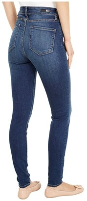 KUT from the Kloth Mia High-Rise Skinny Button Fly in Goodly
