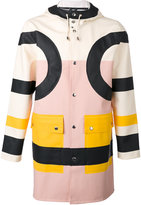Henrik Vibskov colour block coat - unisex - Cotton/Polyester/PVC - XS