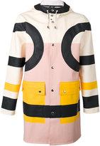 Henrik Vibskov colour block coat - unisex - PVC/Cotton/Polyester - S