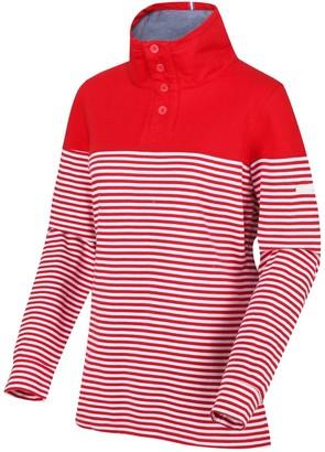 Regatta Camiola Quarter Zip Fleece - Red Stripe