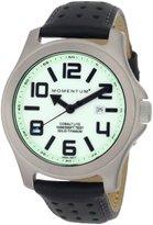 Momentum Men's 1M-Sp08L2B Cobalt Lite Black Perforated Leather Watch