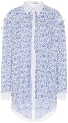 Acne Studios Floral chiffon and cotton shirt