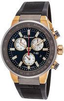 Salvatore Ferragamo F55020014 Men's Chronograph Black Rubber Black Dial
