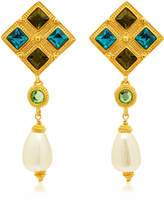 Ben-Amun Ben Amun Gold-Plated Crystal And Faux Pearl Earrings
