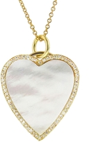 Jennifer Meyer Diamond Mother of Pearl Heart Inlay Necklace