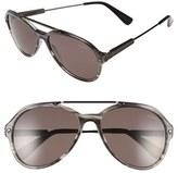 Lanvin Men's 57Mm Aviator Sunglasses - Striped Grey