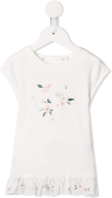 Tartine et Chocolat floral embroidered T-shirt